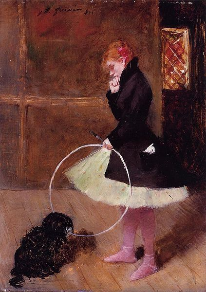 """Dancer with a Hoop"" by Jean-Louis Forain (1852-1931)"