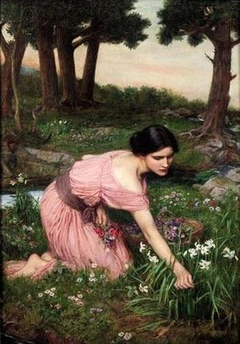 """Spring Spreads One Green Lap of Flowers"" by John William Waterhouse, 1910"