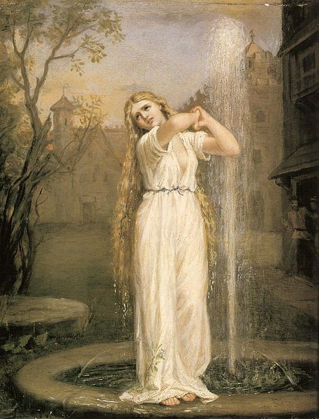 """Undine"" by John William Waterhouse, 1872"