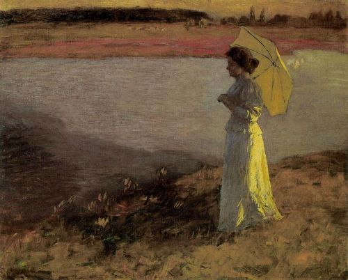 """Woman by the Water"" by Béla Iványi-Grünwald, 1897"
