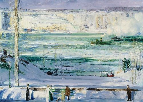 """Snow-Capped River"" by George Bellows, 1911"