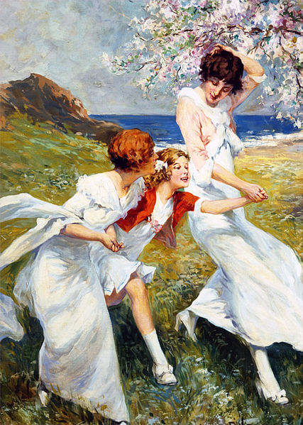 """Joys of Spring"" by René Lelong, circa 1890 to 1900"