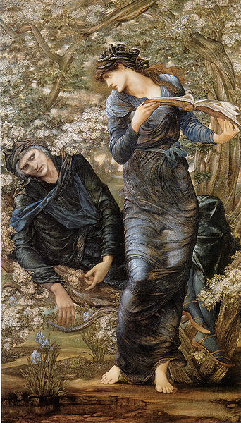 """The Beguiling of Merlin"" by Sir Edward Burne-Jones, 1874"
