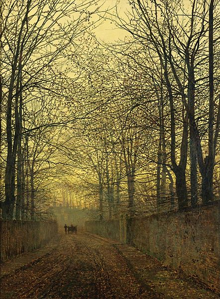 """October Gold"" by John Atkinson Grimshaw, 1889"