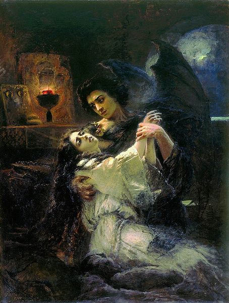 """Тамара и демон"" (""Tamara and Demon"") by Konstantin Makovsky, 1889"