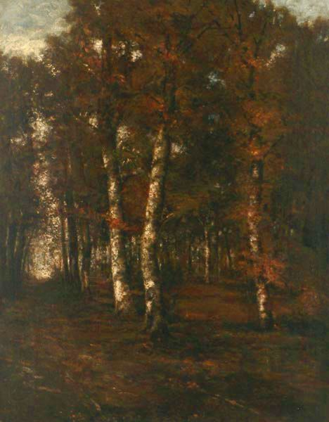 """Forest Path"" by László Paál, 1873"